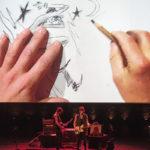 photo concert dessiné Mademoiselle K